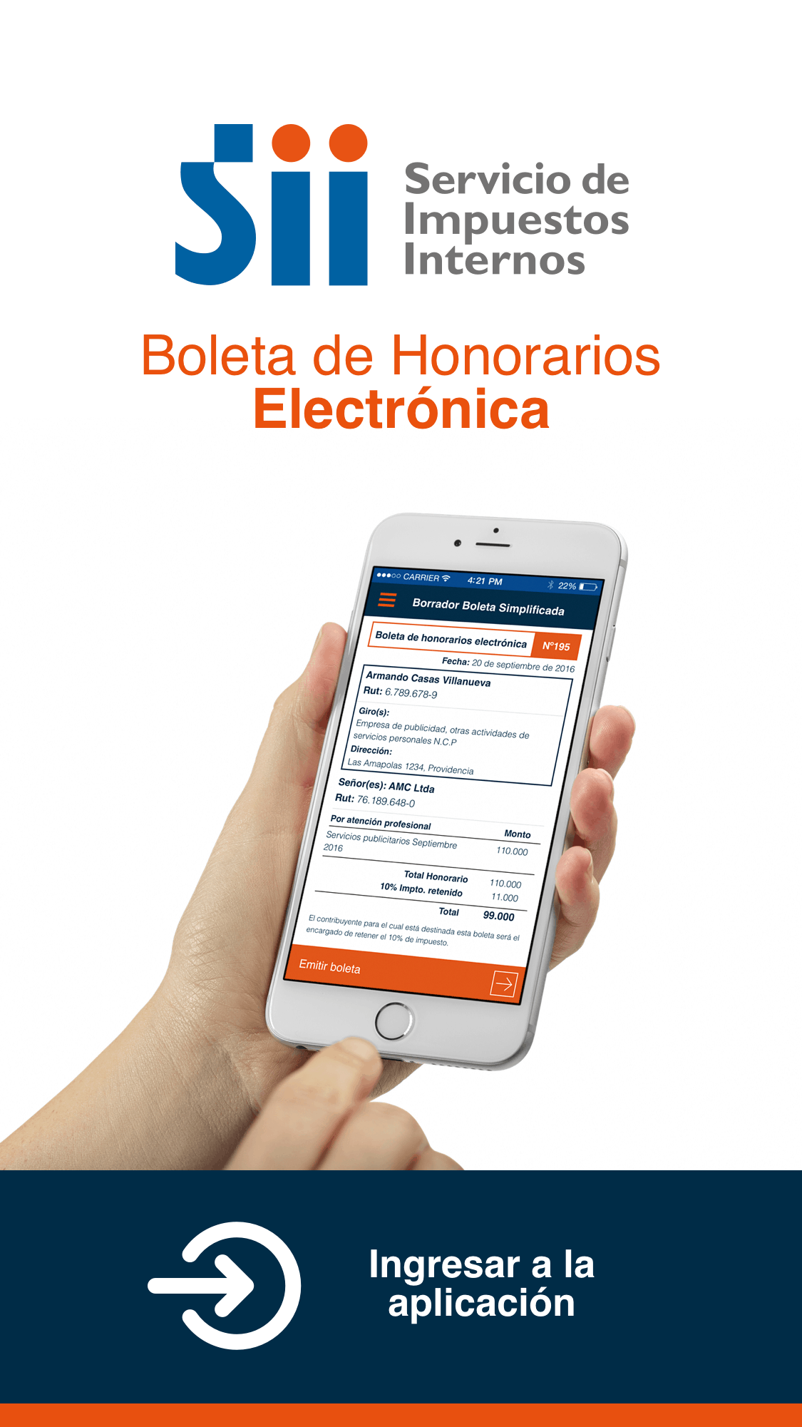 E-BOLETA: COMIENZA A EMITIR TUS BOLETAS DE HONORARIOS DESDE EL TELÉFONO MOVIL