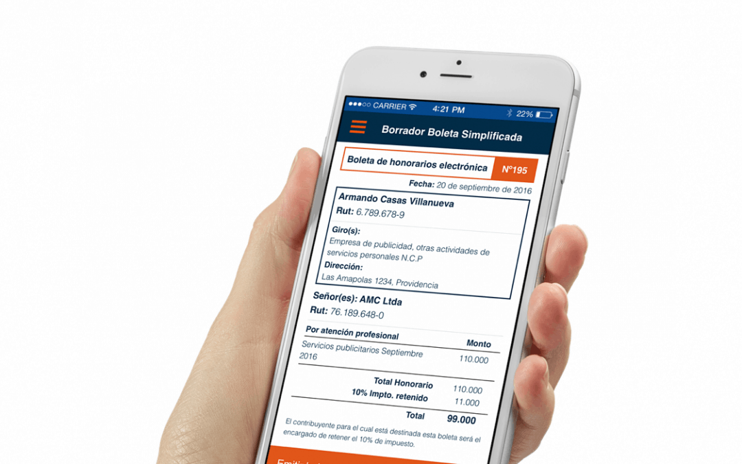 E-Boleta: comienza a emitir tus boletas de honorarios desde el teléfono móvil