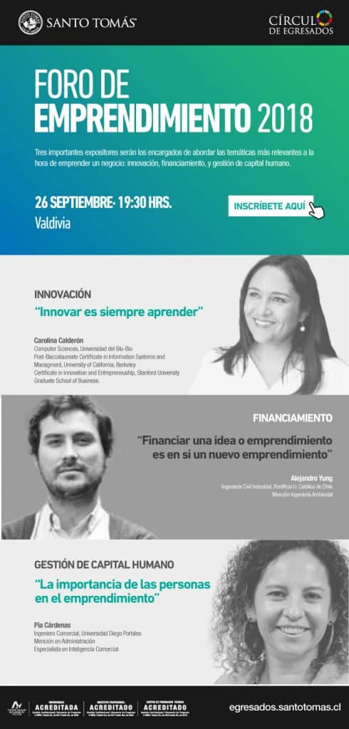 Programa Foro emprendimiento Valdivia