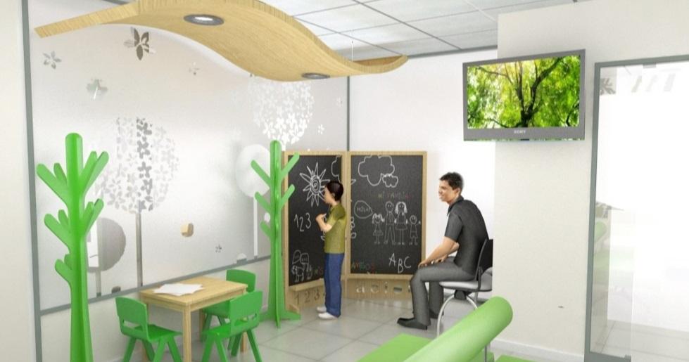 """Sala de espera infantil, un espacio """"contenedor"""""""